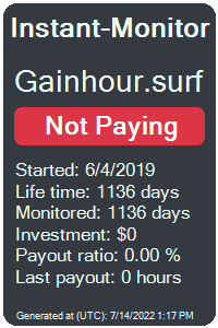 gainhour.surf Monitored by Instant-Monitor.com