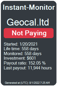 geocal.ltd Monitored by Instant-Monitor.com