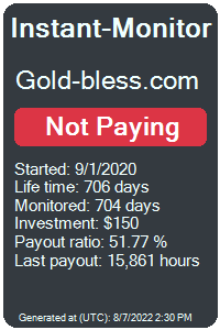gold-bless.com Monitored by Instant-Monitor.com