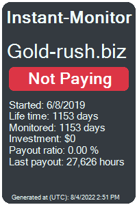 gold-rush.biz Monitored by Instant-Monitor.com