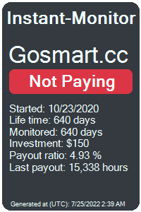 gosmart.cc Monitored by Instant-Monitor.com