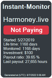 harmoney.live Monitored by Instant-Monitor.com