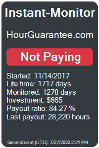 hourguarantee.com Monitored by Instant-Monitor.com
