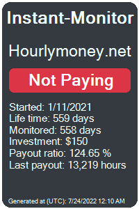 hourlymoney.net Monitored by Instant-Monitor.com