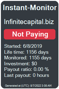 infinitecapital.biz Monitored by Instant-Monitor.com