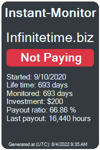 infinitetime.biz Monitored by Instant-Monitor.com