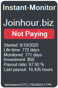 joinhour.biz Monitored by Instant-Monitor.com