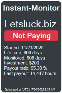 letsluck.biz Monitored by Instant-Monitor.com