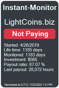 lightcoins.biz Monitored by Instant-Monitor.com