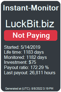 luckbit.biz Monitored by Instant-Monitor.com
