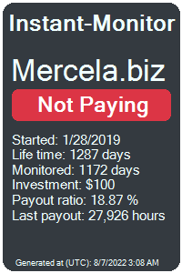 mercela.biz Monitored by Instant-Monitor.com