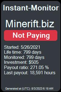 https://instant-monitor.com/Projects/Details/minerift.biz