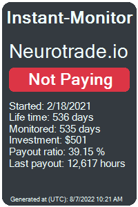 neurotrade.io Monitored by Instant-Monitor.com