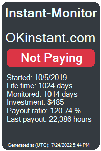 okinstant.com Monitored by Instant-Monitor.com
