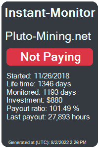 pluto-mining.net Monitored by Instant-Monitor.com