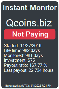qcoins.biz Monitored by Instant-Monitor.com
