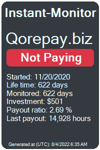 https://instant-monitor.com/Projects/Details/qorepay.biz