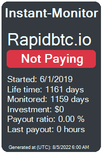 rapidbtc.io Monitored by Instant-Monitor.com