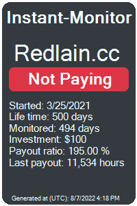 redlain.cc Monitored by Instant-Monitor.com