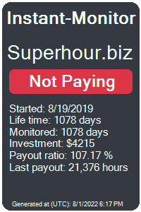 superhour.biz Monitored by Instant-Monitor.com