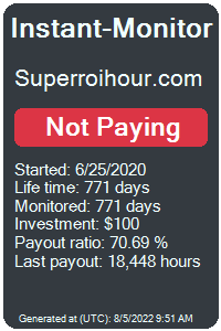 superroihour.com Monitored by Instant-Monitor.com