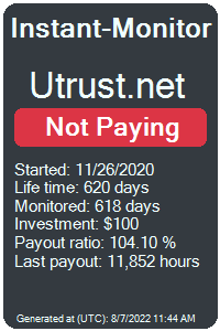 utrust.net Monitored by Instant-Monitor.com