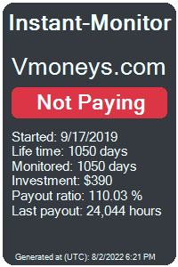 vmoneys.com Monitored by Instant-Monitor.com