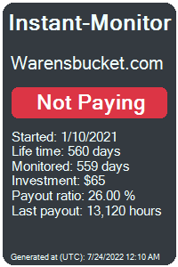 warensbucket.com Monitored by Instant-Monitor.com